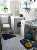 Master Bathroom with Washing Machine